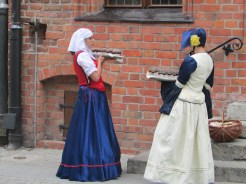 In front of the Copernicus House, Torun, Poland