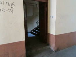Inside a ghetto building
