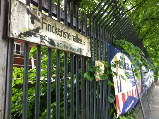 Outside the old Andrews Barracks in the American Sector of Berlin