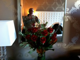 End of the day with Portland roses at the Nines hotel