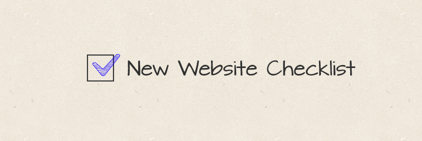 New Website Checklist