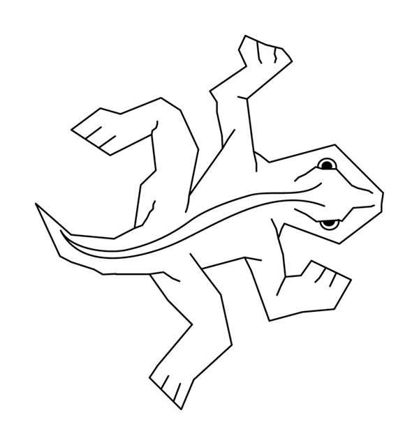 [2008-04-18] MC Escher lizard vector art