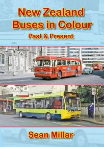 """New Zealand Buses in Colour: Past & Present"". ISBN 978-927329-21-4. $20.00. Postage free within NZ Overseas postage charged at cost."