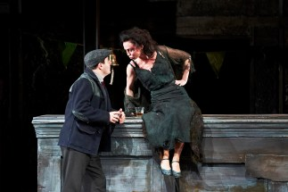 The Plough and the Stars 2012 Abbey Theatre, Laurence Kinlan and Kate Brennan, Photo Credit Ros Kavanagh