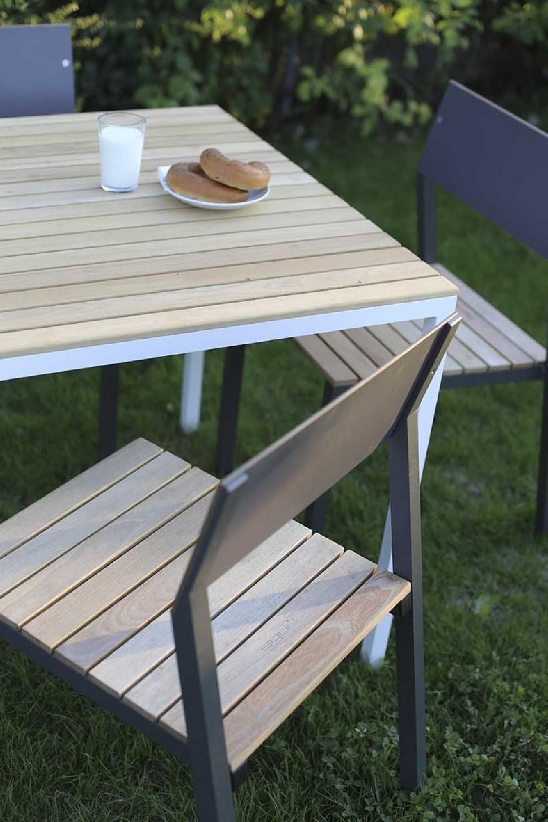 Table De Terrasse Aluminium   Table De Jardin Aluminium ...