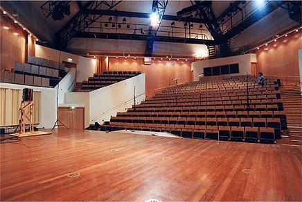 The interior of the hall