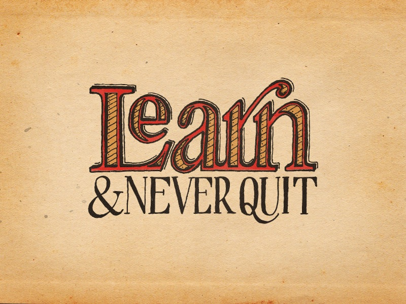 Calligraphy Wallpaper Iphone Learn Amp Never Quit Colored Seanwes