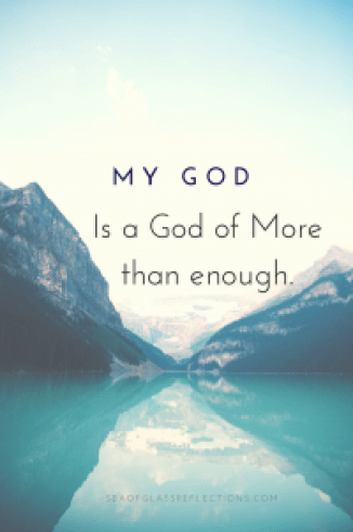 My God is a God of more than enough