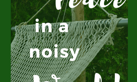 Be at Peace – How to Find it in a Noisy World