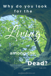 Why do you look for the living among the dead?