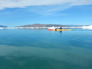 Kayaking and ice bergs