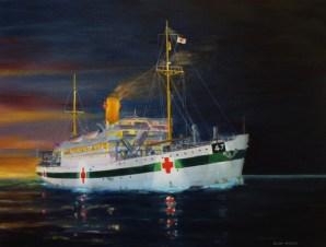 Centaur hospital ship AHS marine art jaclk woods