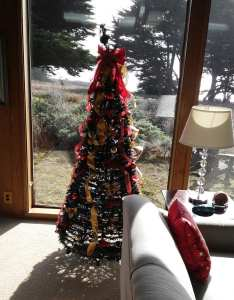 Christmas season, Christmas tree, Sea Ranch, Abalone Bay