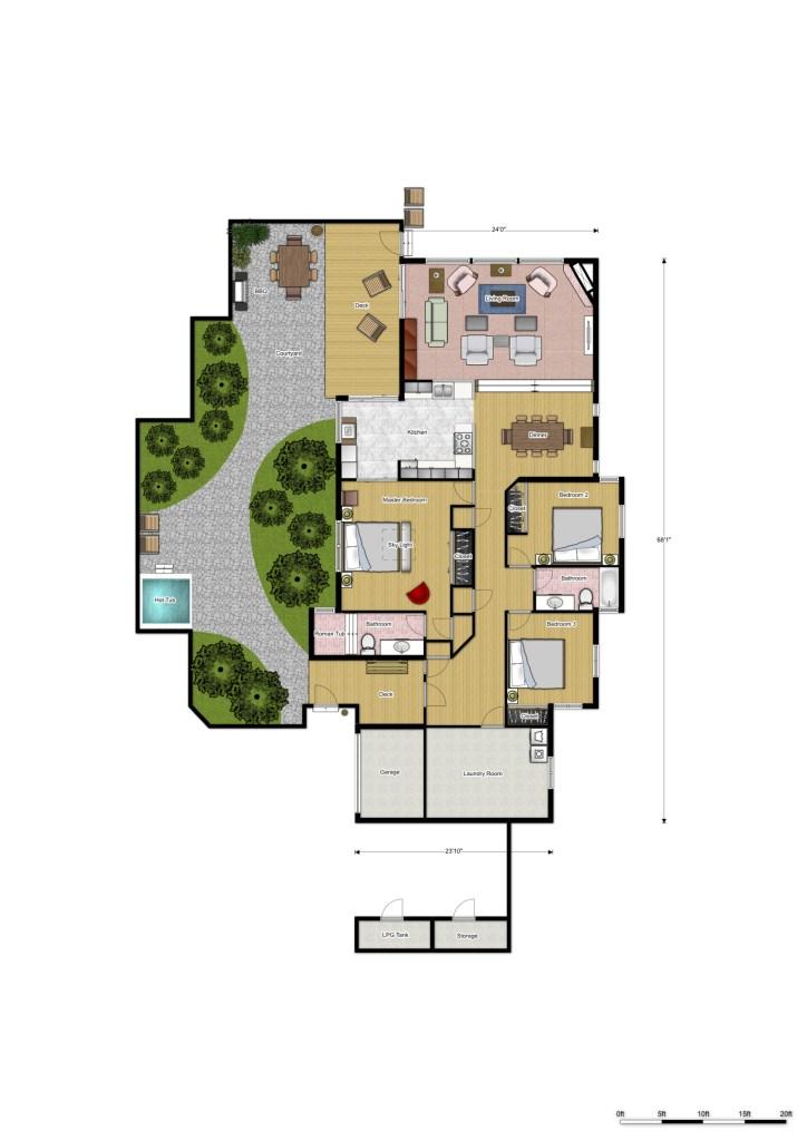 floor plans, Sea Ranch ,Abalone Bay ,Vacation Rental
