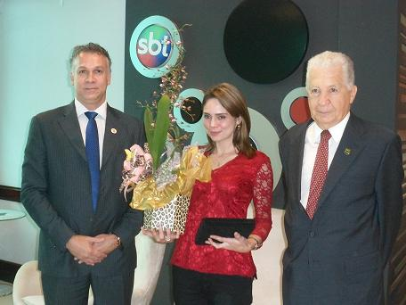 Sindipolf-SP e Fenapef homenageiam a Jornalista Rachel Sheherazade