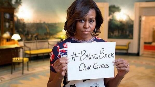 Michelle Obama diz que ela e Barack estão 'indignados' com sequestro das meninas na Nigéria