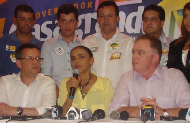 Marina Silva visita o Espírito Santo e garante que não haverá mudanças de posicionamento