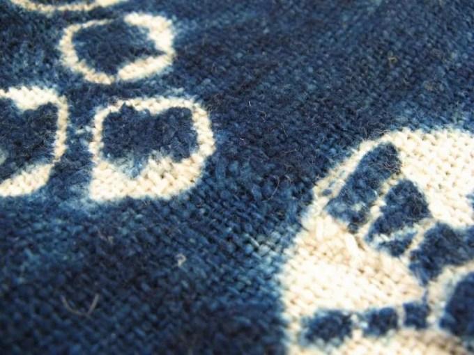 ブルキナファソの藍の絞り染【雑貨】