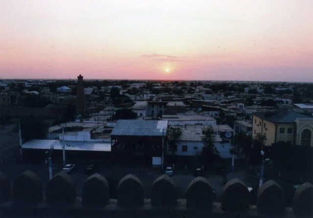 ヒヴァの夕陽