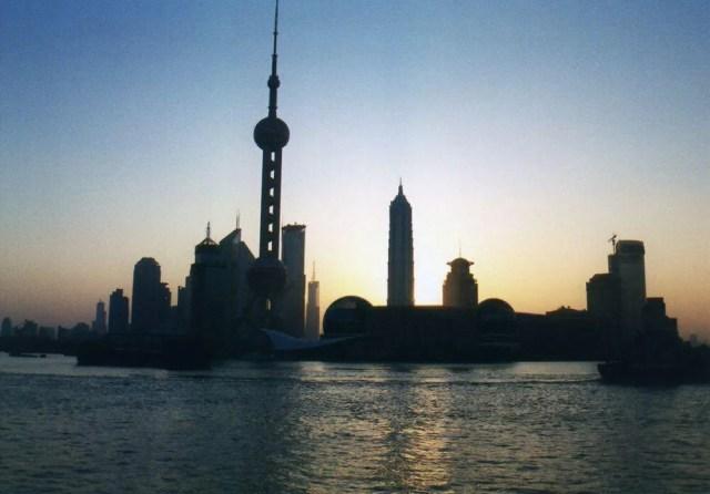 上海の日の出
