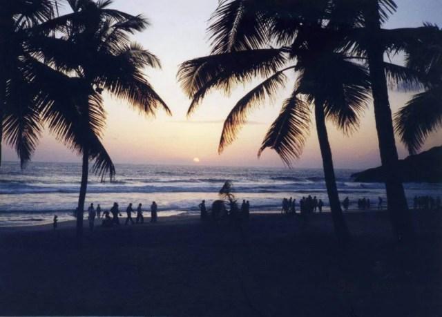 コヴァーラムビーチの夕陽