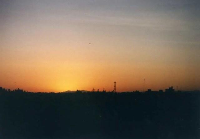 アレキパの夕陽