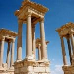 朝、パルミラの遺跡には誰もいませんでした。世界遺産パルミラ遺跡をひとり占め!【シリア】