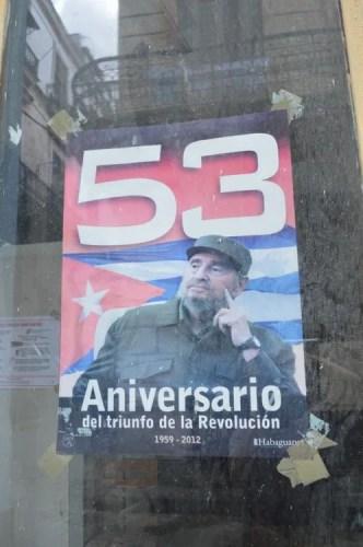 カストロ前議長、ハバナ旧市街 【キューバ Cuba】