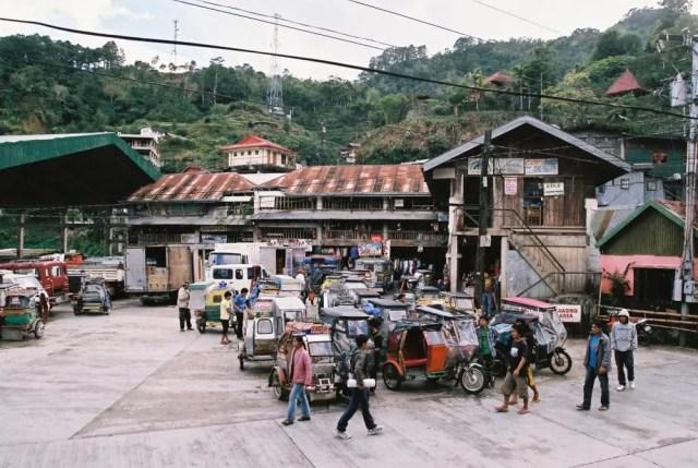 フィリピン、バナウェ。バナウェの中心街