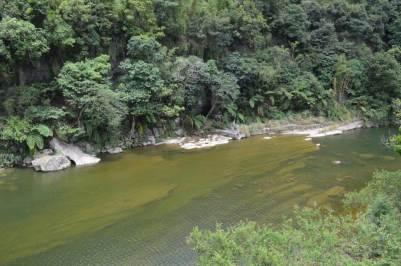 平渓線、十分瀑布への道中【台湾】