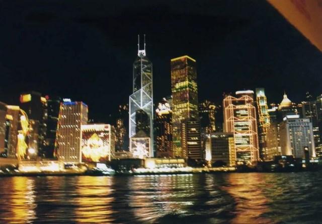 夜の香港(スターフェリー) 【香港】