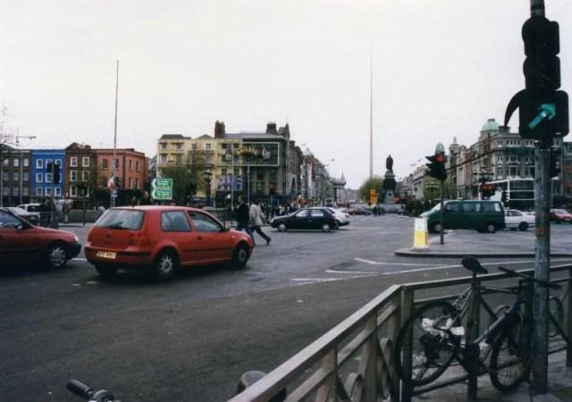 オコンネル通り、ダブリンの町 【アイルランド】
