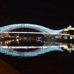 夜のトビリシ旧市街、コテ・アブハズィ通りを散策【ジョージア(グルジア)】