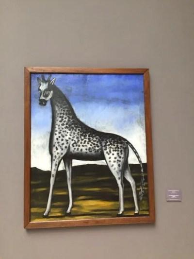 トビリシ、ナショナルギャラリーでピロスマニの絵を見る【ジョージア(グルジア)Georgia:საქართველო】