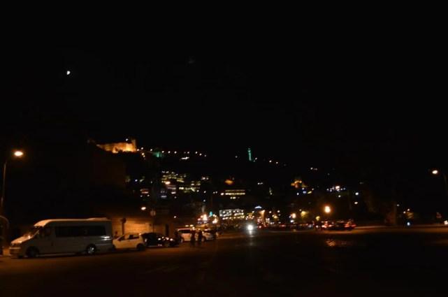 トビリシ、ゴルガサリ広場の夜【ジョージア(グルジア)Georgia:საქართველო】