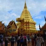 チェンマイ最大の見どころ、ドイステープ寺院の黄金の仏塔(チェーディー)【タイ・チェンマイ】