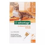 Advantage Kittens & Small Cats 1-9lbs 4 MONTHS