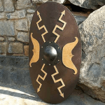 Wooden Oval Roman Shield