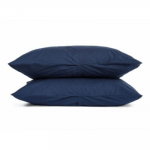 King Percale Pillowcases in Navy   Parachute