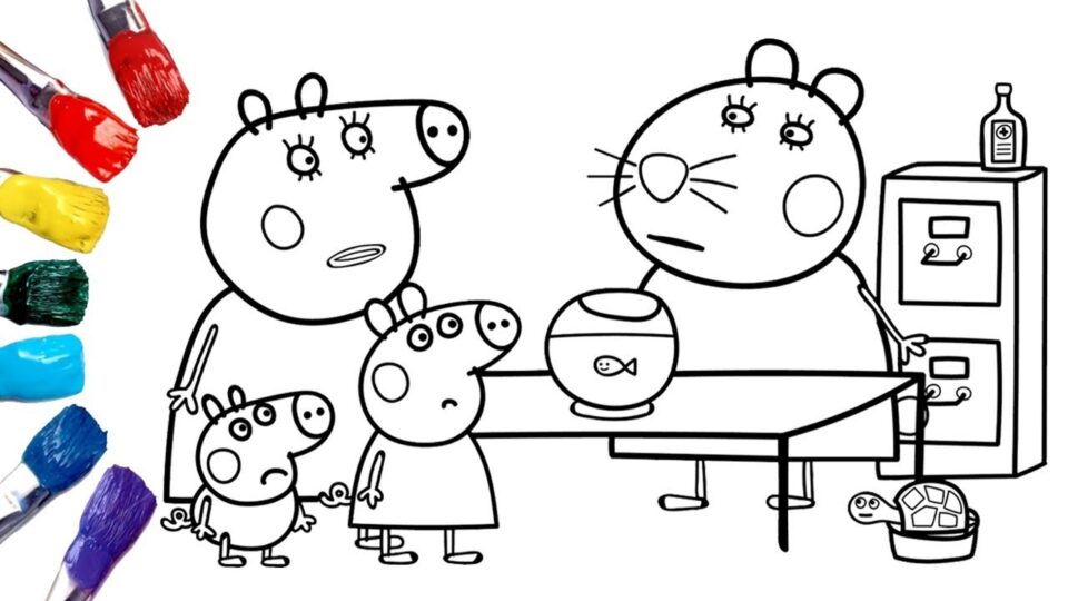 Peppa Pig Goes To The Vet Peppa Pig Coloring Pages