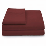 Cosy House Collection Luxury Bamboo 3 Piece Sheet Set - Twin XL - Burgundy