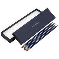 12 Blue Pencils Silver in a Blue Box