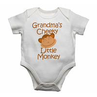 Grandma's Cheeky Little Monkey - Baby Vests Bodysuits for Boys, Gir...