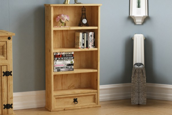 €39.99 instead of €82.44 for a one-drawer distressed pine shelving unit from Home Discount - save 51%