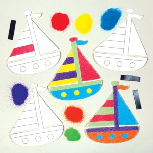 Sailing Boat Sand Art Magnet Kits (Pack of 6)
