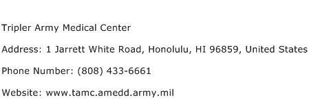Tripler Army Medical Center Address Contact Number of ...