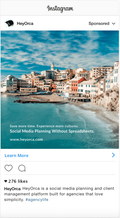 HeyOrca Instagram Ad - By Search & Gather