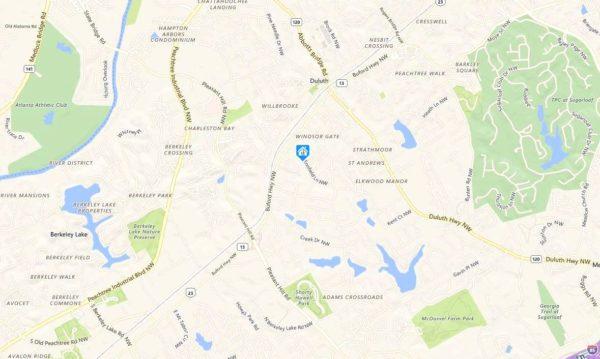 Duluth GA Map Ennfield Location