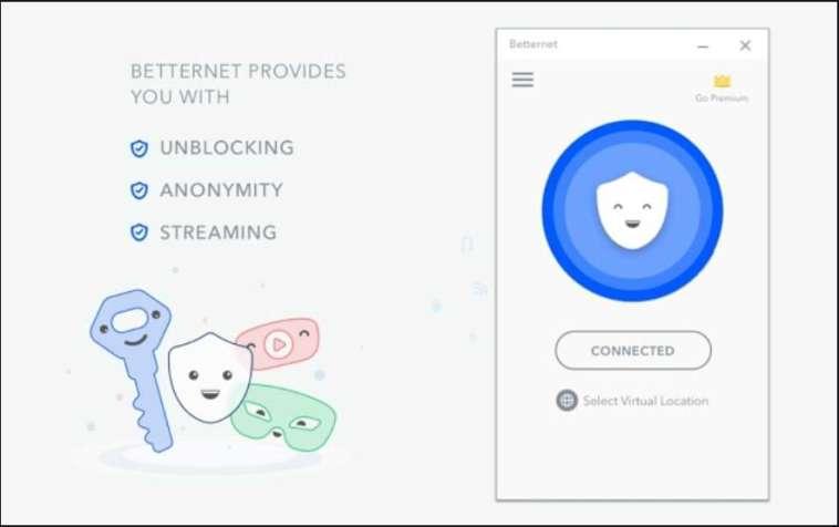 Betternet VPN Crack Key Features 2021