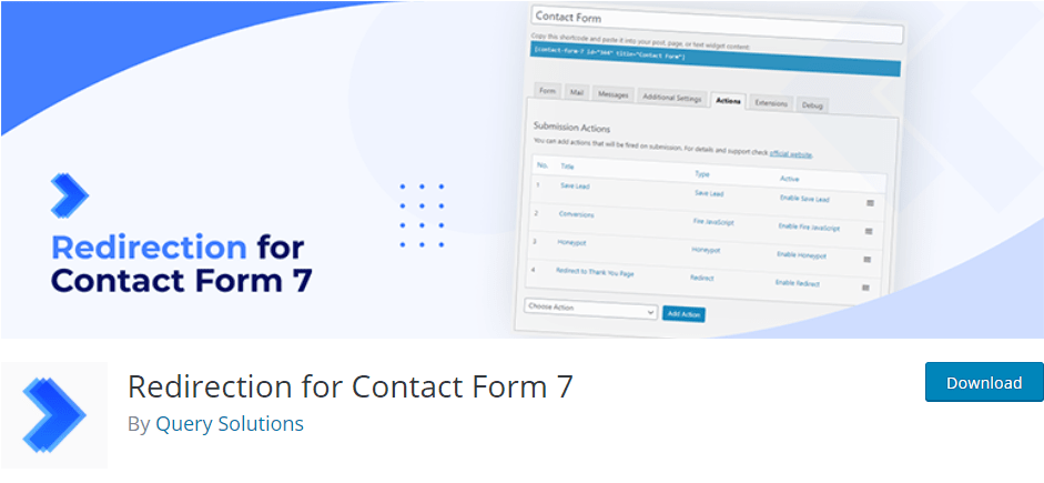 Redirection for Contact Form 7 Plugin